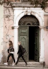 Street, Croatia (KronaPhoto) Tags: croatia vår aged street travel people old door entrance building gatelangs