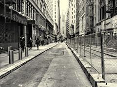 John St (PAJ880) Tags: john st lower manhattan nyc new york urban city financial district bw mono
