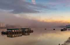 Into the unknown... (Aleem Yousaf) Tags: into unknown uncertainity happy new year fog mist december 2019 river thames port london authority greenwich long exposure lee graduated filter neutral density warmth clarity crisp morning winters photography photo walk nikon nikkor d810 1835mm wide angle lens camera digital outdoor outside world national home fence pebbles light shadows reflections structure cityscape city capital united kingdom gold sunrise life still mirror water flickr longexposure