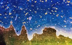 Pinnacles To The Stars (jaxxon) Tags: 2018 d610 nikond610 jaxxon jacksoncarson nikon nikkor lens nikon105mmf28gvrmicro nikkor105mmf28gvrmicro 105mmf28gvrmicro 105mmf28 105mm macro micro prime fixed pro abstract abstraction surface seeds seedpods leaves spring summer sky mountains rust paint peelingpaint texture scene landscape stars starry night