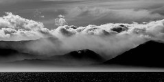 Olympic Mountains Washington State (PhotonArchive) Tags: olympicmountains olympicpeninsula blackwhite monochrome dramatic contrast clouds nuage himmel sky seascape