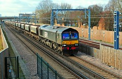 66779 trundles through Abbey Wood working a 6Y79 Angerstein Wharf to Tonbridge West Yard train on 9-1-19. Copyright Ian Cuthbertson (I C railway photo's) Tags: class66 66779 abbeywood gbrf 6y79