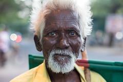 The Drifter, Pondicherry (Geraint Rowland Photography) Tags: eyes expression portraits indianportrait streetportrait whitetowninpondicherry india wwwgeraintrowlandcouk drifter whitehair intense elderlyindia indianpeople canon highiso light lowlightphotography wideaperture geraintrowlandstreetportraits pudicherry tamilnandu