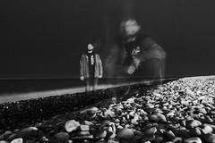 The man and pebbles (iilux) Tags: pebbles theman man stones beach камешки камни галька человек мужчина мужик мэн пляж выдержка смаз ночь ночная съёмка сочи адлер sochi longexposure exposure portrait портрет bnw чб монохром monochrome art artistic unusual portraiture арт необычное необычный blur blurring canon60d canon 60d blackandwhite мультиэкспозиция россия russia 2018 friend друг ятаквижу