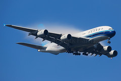 China Southern Airbus A380-841 B-6139 (Mark Harris photography) Tags: spotting yssy sydney aviation canon 5d a380 cz airbus fog cloud stunner bluesky blue beautiful hot humid