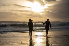 Strolling (Rushay) Tags: couple walking stroll ocean sunset waves portelizabeth southafrica