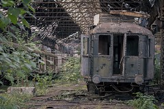 'End of the line'.... (Taken By Me Photography) Tags: abandoned adventure building closed creepy centre corridor carriage train rail track derelict decay dark demolished door d750 explore exploring empty eerie forgotten gone green left lost nikon neglect old open ruin ride shut takenbyme takenbymephotography urbex urban ue wwwtakenbymephotographycouk