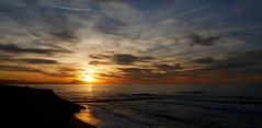 (An Arzhig) Tags: biarritz pays basque france sunset water ocean sea clouds cloud nuage nuages orange blue bleu sky panasonic lumix gx800