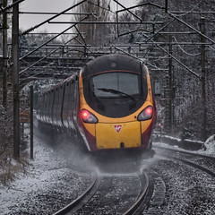 Not Much Snow! (whosoever2) Tags: uk united kingdom gb great britain england nikon d7100 train railway railroad january 2019 class390 pendolino 1a19 manchester piccadilly london euston snow winter virgin trains