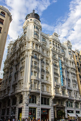 Hotel Atlantico antiguo dueño Marques de Falces arquitecto Joaquín Saldaña 1921 Gran Via 38 Madrid 01 (Rafael Gomez - http://micamara.es) Tags: esp españa granvia madrid hotel atlantico antiguo dueño marques de falces arquitecto joaquín saldaña 1921 gran via 38