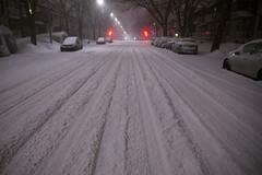 When the streets have no one / À moi la rue! (Jacques Lebleu) Tags: neige nuit hiver ahuntsic ruesthubert montréal