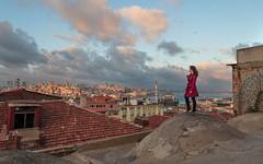 Стамбул (Alexandra Khazanova) Tags: europe istanbul turkey alexa sunset roof kubbe