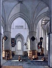 IMG_5662 Gerrit Adriaensz Berckheyde 1638-1698.  Haarlem The Interior of the Grote Kerk (Saint Bavo) , Haarlem.   Hambourg Kunsthalle. (jean louis mazieres) Tags: peintres peintures painting musée museum museo deutschland germany allemagne hamburg kunsthalle