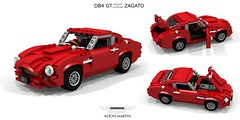 Aston Martin DB4 GT Zagato (1960) (lego911) Tags: aston martin astonmartin db4 gtz zagato 1960 1960s classic coachbuilt gt supercar sportscar coupe alloy auto car moc model miniland lego lego911 ldd render cad povray gb british england afol