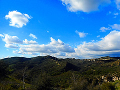 Whiting Ranch from Concourse Park (EmperorNorton47) Tags: portolahills california concoursepark photo digital winter whitingranchwildernesspark clouds sky chaparral foothills landscape blue