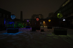 Penumbra By Taylor Dean Harrison @ Toronto Light Festival 2019 (A Great Capture) Tags: agreatcapture agc wwwagreatcapturecom adjm ash2276 ashleylduffus ald mobilejay jamesmitchell toronto on ontario canada canadian photographer northamerica torontoexplore winter l'hiver 2019 city downtown lights urban night dark nighttime cold snow weather colours colors colourful colorful eos digital dslr lens canon 70d outdoor outdoors outside vibrant cheerful vivid bright streetphotography streetscape photography streetphoto street calle torontolightfestival theartoflighttolightfest historicdistillerydistrict distillerydistrict lightfest festival public art artinstallation installation penumbra taylor dean harrison red green purple yellow blue efs1018mm wideangle