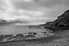Second Valley Gloom (Anthony Kernich Photo) Tags: secondvalley fleurieu fleurieupeninsula shore water ocean sea adelaide australia southaustralia travel roadtrip olympusem10 olympus olympusomd microfourthirds lumix country sa landscape seascape view natural nature day shoreline outdoor composition beach flickr mono monochrome grayscale blackandwhite gloom