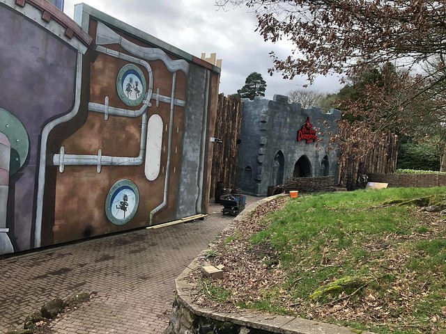 The Alton Towers Dungeon construction