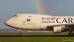 Saudia B747 (Ramon Kok) Tags: 744 747 747400 747400f 747f 9t actairlines ams avgeek avporn aircraft airline airlines airplane airport airways amsterdam amsterdamairportschiphol aviation boeing boeing747 boeing747400 boeing747400f cargo eham freighter holland run rainbow saudiairlines saudiarabianairlines saudia saudiacargo schiphol schipholairport tcmct thenetherlands