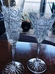Czech Crystal Stemware (moacirdsp) Tags: czech crystal stemware decorated lace champagne flute wine goblet purchased staroměstské praha česko česká republika 1994  figueira da foz portugal 2019