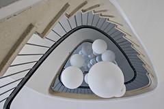 Big balls (Elbmaedchen) Tags: fastlostplace staircase stairwell stairs stufen steps treppenauge treppenstufen treppenhaus escalier roundandround interior upanddownstairs helix spirale spiral architektur architecture beauty abwärts lampen leuchten lights balls lostplace