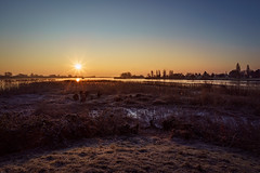 Winter sunrise (martintimmann) Tags: availablelight e hamburg elbe romance loxia2821 zeiss sony loxia sunrise a7r3 sonya7r3