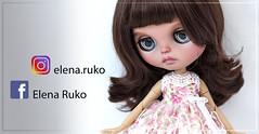Instagram and Facebook (elena ruko) Tags: bjd doll yosd clothing dress customsewing littlefee blythe