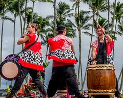 Taishoji Taiko (mutrock) Tags: taishojitaiko drums hawaii bigisland hilo hawaiianislands usa unitedstates 2018 veteransdayparade parade palms drummers musicians