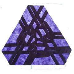 Tri-lateral criss-crossing emblem of volumetric hornswoggling - t3334 (Kajmana) Tags: geometry origami papercraft