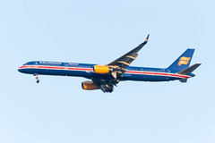 19-1046 (George Hamlin) Tags: virginia chantily washington dulles international airport iad icelandair airlines tfisx boeing 757300 airplane aircraft airliner single aisle narrowbody 100 years iceland aviation special livery paint scheme landing photo decor george hamlin photography