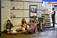 say something (gro57074@bigpond.net.au) Tags: waiting people candidphotography candidstreet candid pointing hand f28 2470mmf28 tamron d850 nikon hangingout colour nye2018 nye newyearseve 2018 december circularquay streetphotography street guyclift saysomething