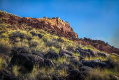 Mountain & Black Volcanic Rocks of Capitol Reef National Park (donnieking1811) Tags: utah fruita torrey capitolreefnationalpark capitolreef nationalpark park landscape mountain outdoors sky blue blackrocks volcanicrocks hdr canon 60d lightroom photomatixpro