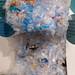 Veranschaulichung der jährlich 611 kg verursachten Plastikmülls jedes Deutschen