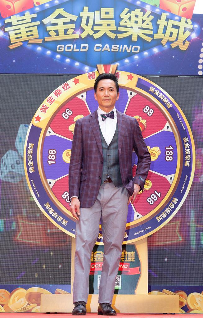 鄒兆龍代言手遊《黃金娛樂城》。(黃金娛樂城提供)