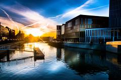 Sunset (Maria Eklind) Tags: city architecture kanal skåne water malmö sky sunset solljus himmel malmölive outdoor solnedgång cityscape sweden rubato skånelän sverige se