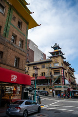 Oriental Architecture (Serendigity) Tags: california chinatown sanfrancisco singfatcobuilding usa unitedstates building cars city people street unitedstatesofamerica