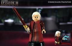 Custom LEGO Star Wars Episode III: Revenge of the Sith | Chancellor Palpatine (LegoMatic9) Tags: custom lego star wars episode 3 iii revenge sith chancellor emperor sheev palaptine minifigure clone am senate