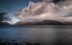 Last light on Loch Linnhe (NikNak Allen) Tags: scotland highlands glencoe water smooth mountains light shadows cloud clouds dramatic seascape landscape reflection loch longexposure exposure view look