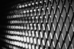 Expanded (Nicholas Erwin) Tags: expandedmetalsheets metal mesh industrial heavyduty bokeh depthoffield abstract creative blackandwhite monochrome bw mono fujifilmxt2 fujixt2 meike3514 meike35mmf14 meike fav10 fav25