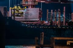 schnitzer steel recyclables (pbo31) Tags: eastbay alamedacounty bayarea california nikon d810 color night dark black april 2019 boury pbo31 oakland port ship marine harbor container sail alameda island crane blur