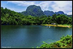 Blue Lake (VERODAR) Tags: lake village boat boatride mountain sky clouds bau kuching sarawak sarawakborneo borneo nikon verodar veronicasridar