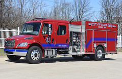 Blue Ash OH   Engine 213 (kyfireenginephoto) Tags: freightliner bafd montgomery oh pierce fire blue ash truck firemen red engine evendale pumper ohio sycamore 2019 deerfield i71 firefighter