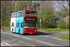 Warrington's Own Buses - V103 LGC (Tf91) Tags: warrington warringtonbus warringtonboroughtransport warringtonsownbuses v103lgc 156 birchwood cinnamonbrow 23a shoppers volvo volvob7tl alx400 londoncentral
