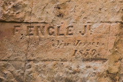 F. Engle J. Inscription from 1859 in El Morro National Monument (Lee Rentz) Tags: 1859 antiquitiesact cibolacounty coloradoplateau elmorro elmorronationalmonument fenglej inscriptionrock inscriptionrocktrail newmexico theodoreroosevelt trailoftheancientsbyway america americanwest archaeological archaeology carved carving cultural culture desert dry historic history horizontal inscribed inscription interpretation interpretive journey landscape nature newjersey northamerica oasis path pool promontory rock route sandstone source southwest stone trail traveler usa water wateringhole west
