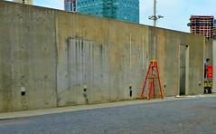 National Emergency (Robert Saucier) Tags: newyork newyorkcity manhattan mur wall building architecture orange img2002 ps1 longislandcity queens
