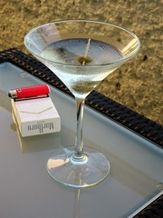Martini and Cigarettes (knightbefore_99) Tags: mexico mexican tropical oaxaca beach hot awesome great dreams martini cocktail cigarettes lighter booze morning art olive vodka