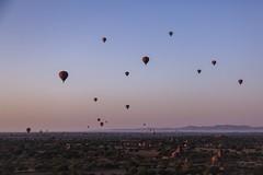 Bagan (LLL7194) Tags: sunrise hot air ballon temple bagan myanmar