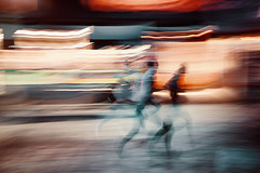 The Flash (Pierre Pichot) Tags: orleans street loiret france longexposure night people running urban light neon cinematic fuji fujifilm x100t