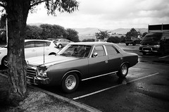 1981 Chrysler Regal..! (Matthew Paul Argall) Tags: kodakstar500af 35mmfilm blackandwhite blackandwhitefilm ilforddelta100 100isofilm car vehicle automobile transportation oldcar classiccar carspotting chryslervaliant chryslerregal chrysler