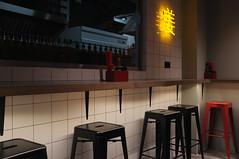 DSCF4615 (Mike Pechyonkin) Tags: 2019 moscow москва cafe кафе crazy noodle table стол bottle бутылка chair стул window окно